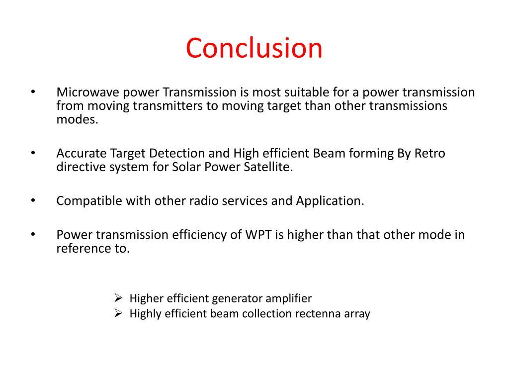 PPT - WIRELESS POWER TRANSMISSION FOR SOLAR POWER SATELLITE