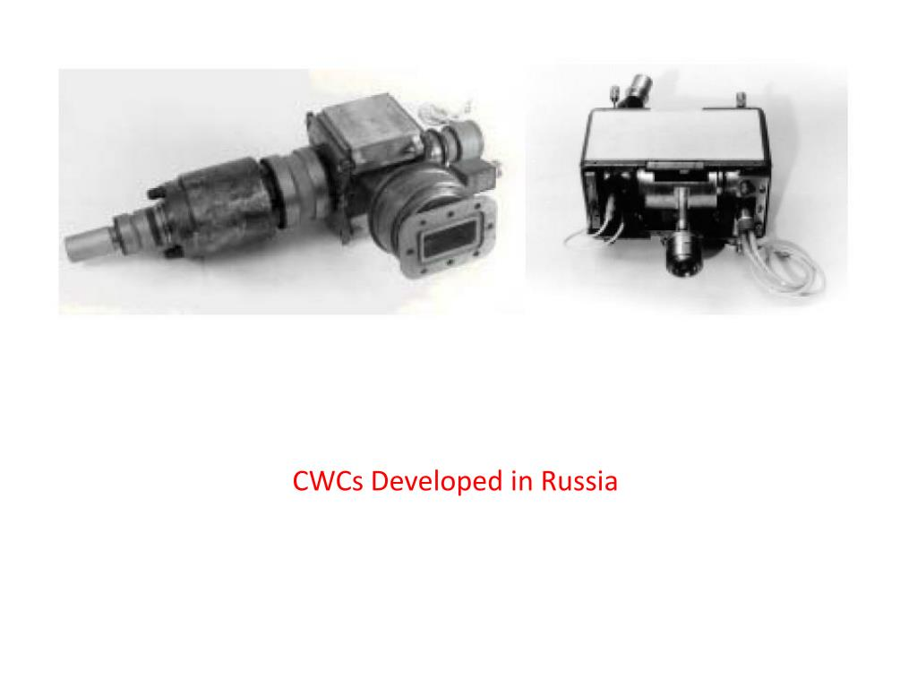 CWCs Developed in Russia