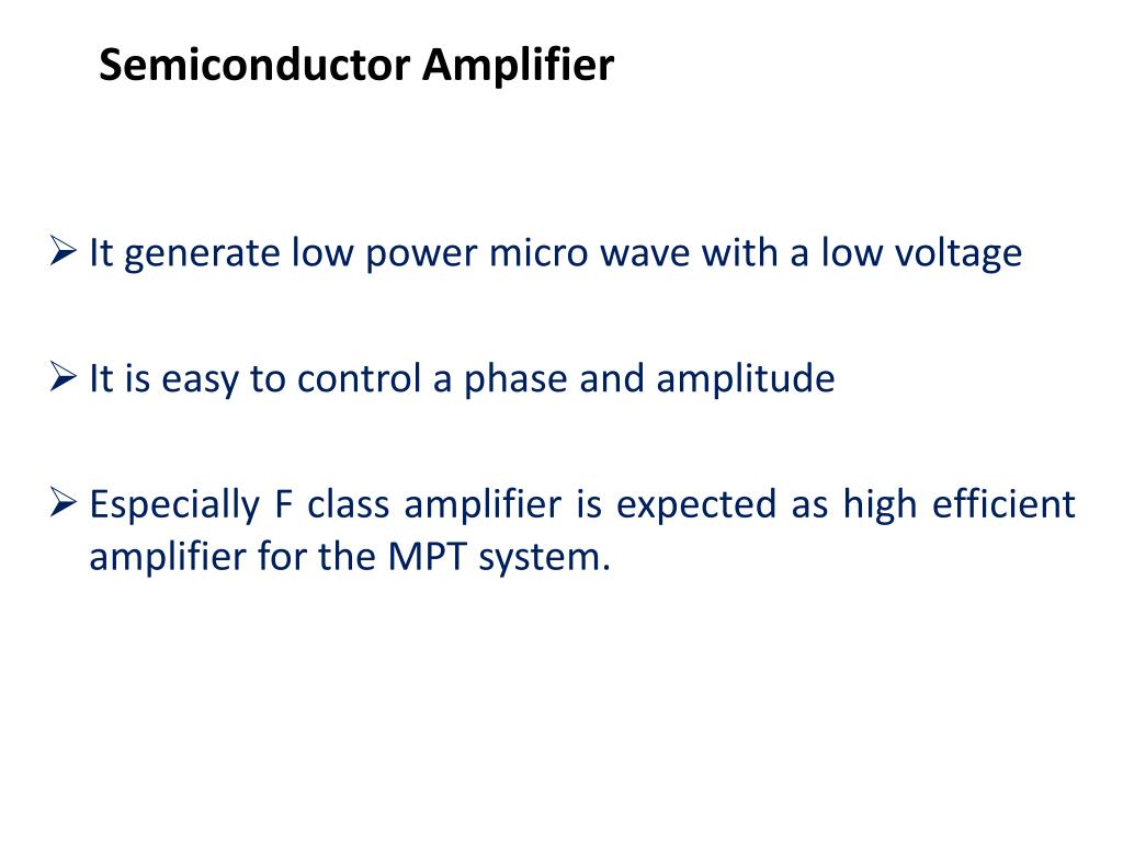 Semiconductor Amplifier