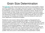 grain size determination