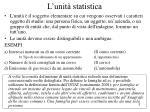 l unit statistica