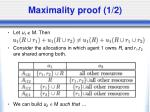 maximality proof 1 2
