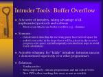 intruder tools buffer overflow