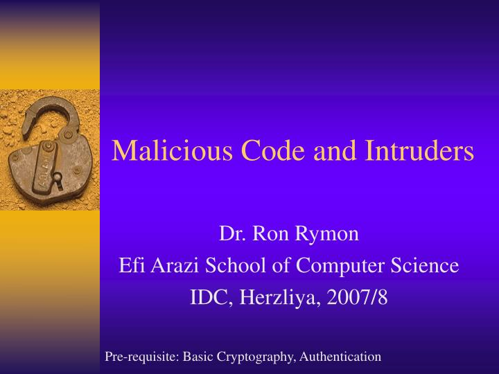 malicious code and intruders n.