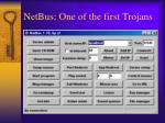 netbus one of the first trojans