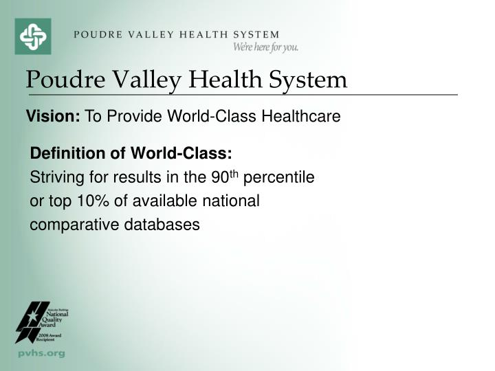 Poudre valley health system1