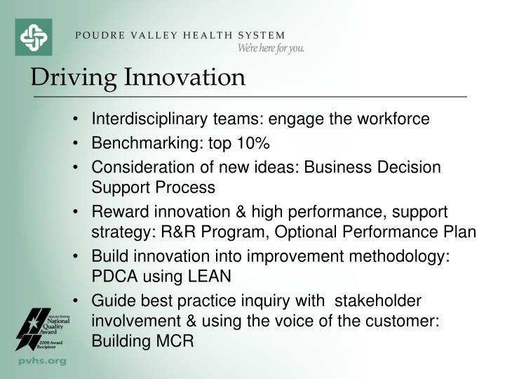Interdisciplinary teams: engage the workforce
