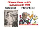 different views on u s involvement in wwii