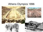 athens olympics 1896