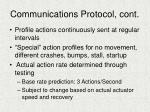 communications protocol cont