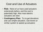 cost and use of actuators