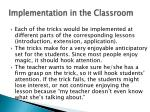 implementation in the classroom