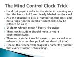 the mind control clock trick
