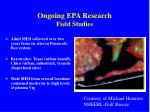 ongoing epa research field studies