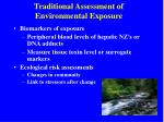 traditional assessment of environmental exposure