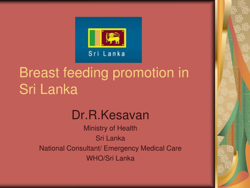 breast feeding promotion in sri lanka l.