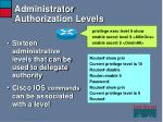 administrator authorization levels