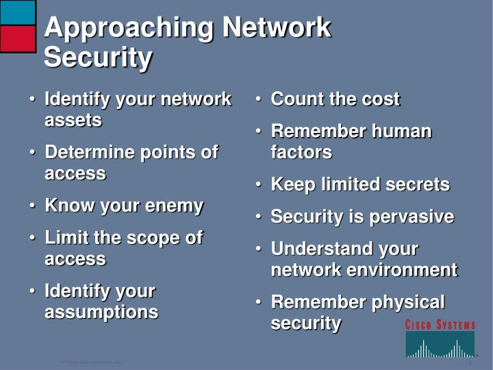 Approaching network security