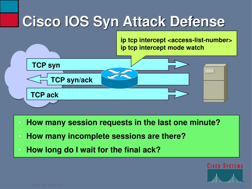 Cisco IOS Syn Attack Defense
