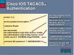 cisco ios tacacs authentication