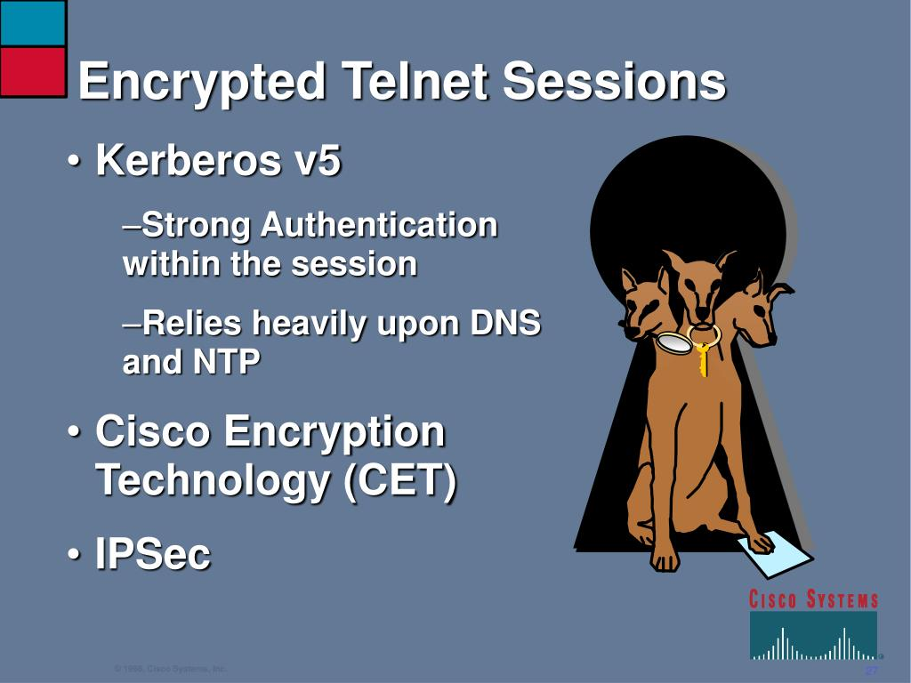 Encrypted Telnet Sessions