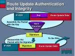 route update authentication and integrity