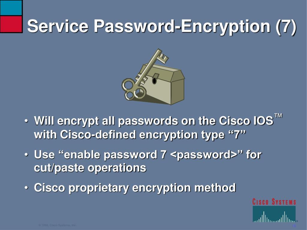 Service Password-Encryption (7)