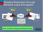 session protection through network layer encryption