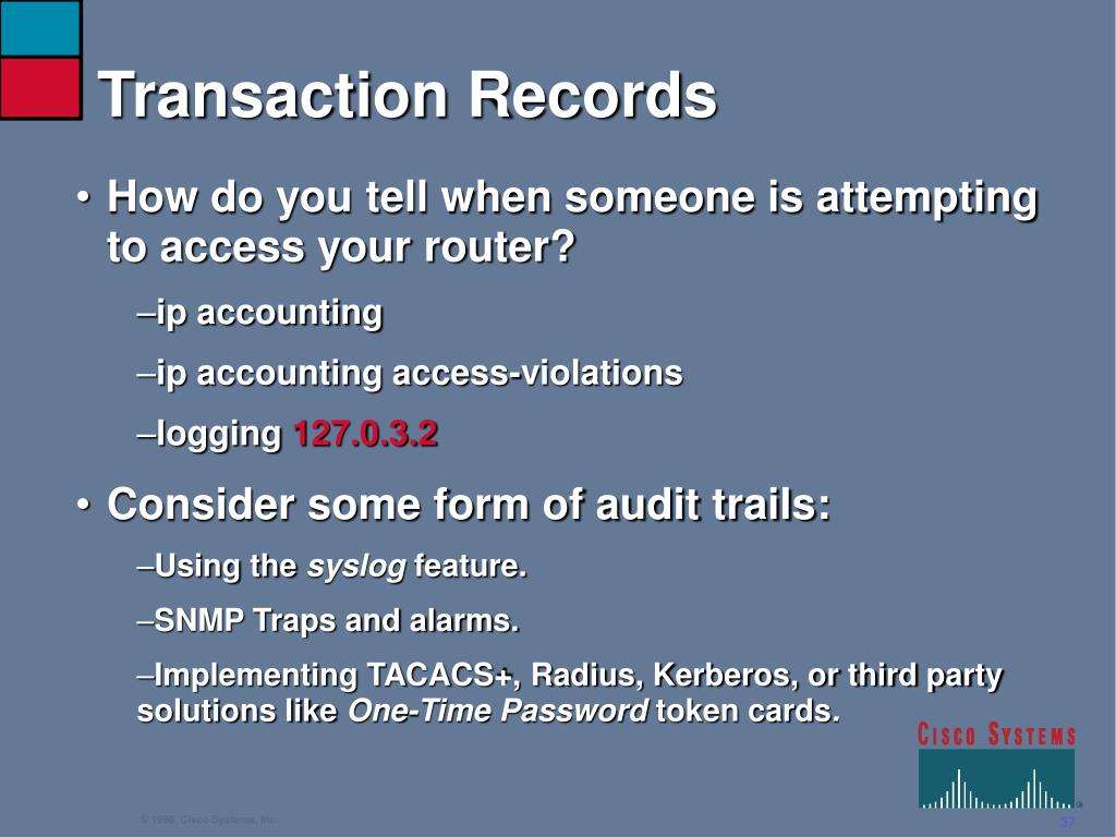 Transaction Records