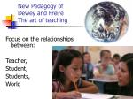 new pedagogy of dewey and freire the art of teaching
