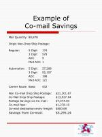 example of co mail savings