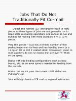jobs that do not traditionally fit co mail