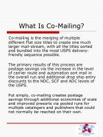 what is co mailing