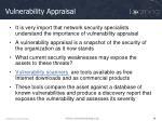 vulnerability appraisal