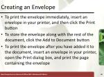 creating an envelope1