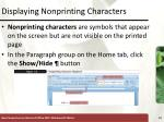 displaying nonprinting characters