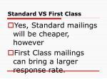 standard vs first class