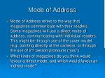 mode of address