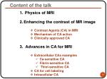 content of the talk10