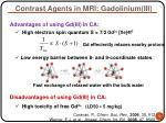 contrast agents in mri gadolinium iii