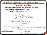extracellular cas fibrin sensitive