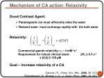 mechanism of ca action relaxivity