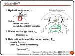 mechanism of ca action what affects relaxivity