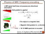 physics of mri frequency encoding