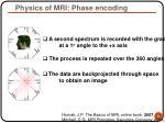 physics of mri phase encoding