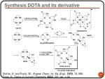 synthesis dota and its derivative
