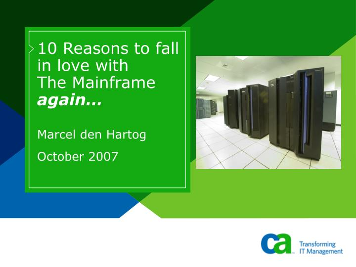 10 reasons to fall in love with the mainframe again n.