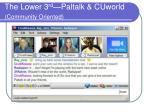 the lower 3 rd paltalk cuworld community oriented