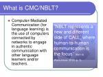 what is cmc nblt