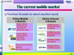 the current mobile market12